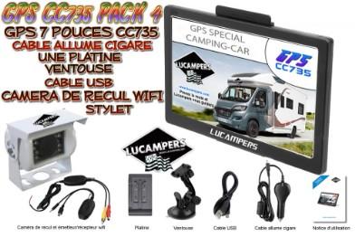 gps sp cial camping car lucampers pack 4 avec cam ra de. Black Bedroom Furniture Sets. Home Design Ideas