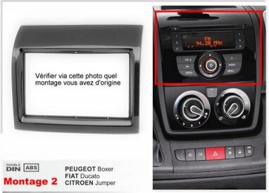 autoradio double din fiat ducato gps camping car lucampers. Black Bedroom Furniture Sets. Home Design Ideas